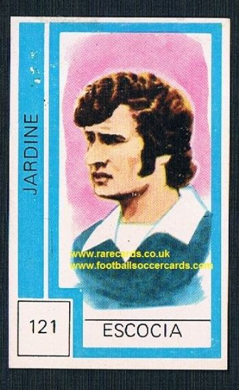 1974 Scotland World Cup Sandy Jardine - from Chile! - Rangers & Hearts